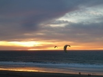 Redondo Beach with kite surfing into stunning sunset, Jim Caldwell