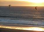 Redondo Beach Kite Surfing at Sunset, Jim Caldwell