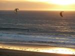 Redondo Beach Kite Surfing at Sunset, Jim Caldwell