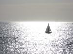 Sailing at sunset Redondo Beach, Jim Caldwell