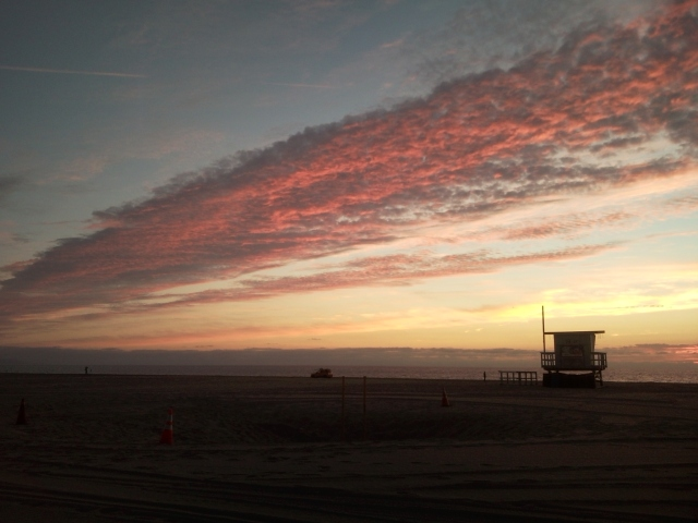 Hermosa Beach Sunset on the Strand, Jim Caldwell Redondo Beach, photography